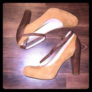 Franco Sarto round-toe pumps with ankle straps